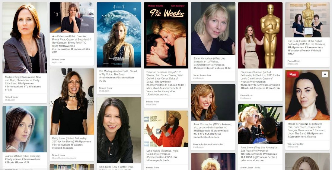 Pinterest Boards –  Discover Hundreds of Women Writers, Composers, DP & Directors